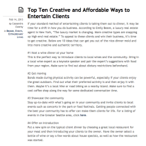 Top 10 Creative and Affordable Ways to Entertain Clients