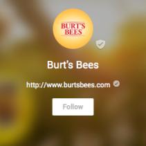 Burt's Bees Brand Page