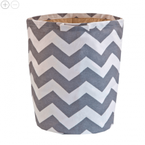 Chevron Round Hamper