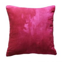 Overdyed Hot Pink Linen Pillow