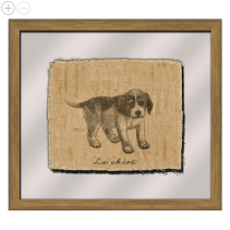 Ebony Dog I Framed Wall Art