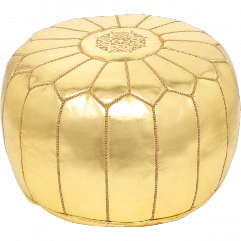 Gold pouf