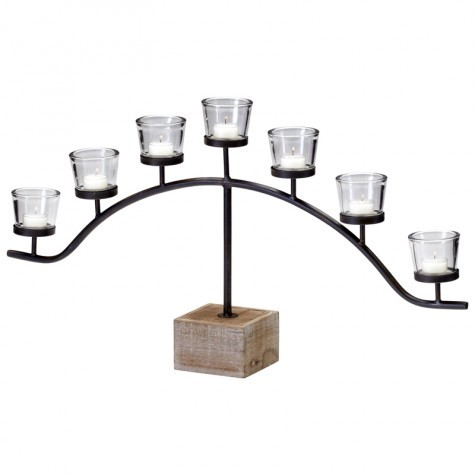 Arc metal candle holders